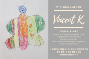 Vincent gewinnt Malwettbewerb